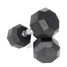 35 lbs Rubber Encased Octagonal Dumbbells