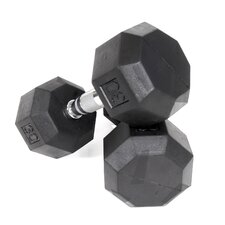 30 lbs Rubber Encased Octagonal Dumbbells