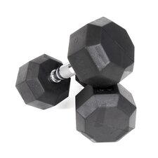 45 lbs Rubber Encased Octagonal Dumbbells (Set of 2)