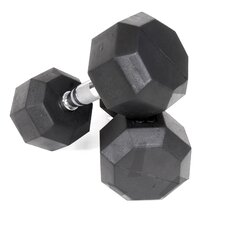 Rubber Encased Octagonal Dumbbells (Set of 2)