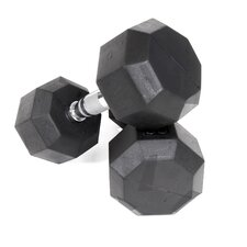 12 lbs Rubber Encased Octagonal Dumbbells