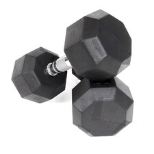 20 lbs Rubber Encased Octagonal Dumbbells