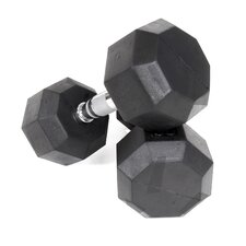 25 lbs Rubber Encased Octagonal Dumbbells (Set of 2)