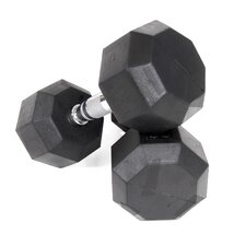 60 lbs Rubber Encased Octagonal Dumbbells (Set of 2)