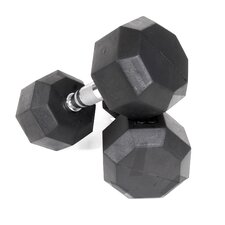 5 lbs Rubber Encased Octagonal Dumbbells