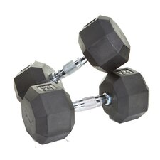 20 Piece VTX Rubber Encased Otagonal Dumbbell Set
