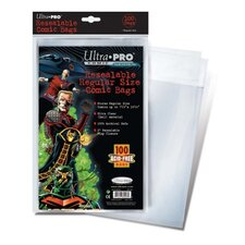 "<strong>Ultra Pro</strong> 7.13"" x 10.5"" Resealable Regular Comic Bags"