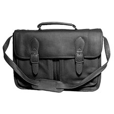 Top Handle Flapover Portfolio Bag