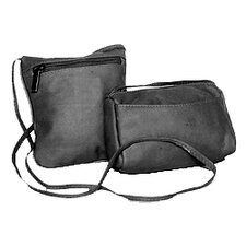 <strong>David King</strong> Horiztonal Top Zip Mini Cross-Body Bag