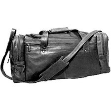 "19"" Leather Classic Travel Duffel Bag"