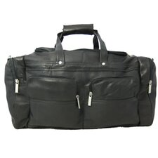 "19"" Leather Gym Duffel"