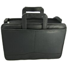 Triple Gusset Drop Handle Briefcase