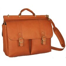 Dowel Leather Laptop Briefcase