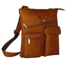 <strong>David King</strong> Large Snap Multi Pocket Shoulder Bag