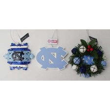 NCAA Ornaments (3 pack)