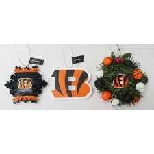Team Beans Holiday Christmas NFL Ornament (3 Pack)