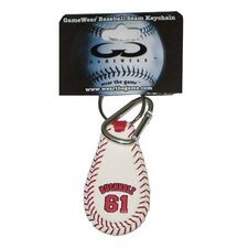 <strong>Gamewear</strong> MLB Player Leather Key Chain
