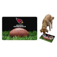 NFL Classic Football Pet Bowl Mat