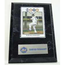 Sports Images Card Plaque MLB David Wright Card - New York Mets Memorabilia Plaque