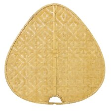 Palisade Wide Oval-Shaped Woven Bamboo Indoor Ceiling Fan Blades (Set of 8)