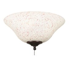 <strong>Fanimation</strong> Rust and Cream Speckled Ceiling Fan Glass Bowl Shade