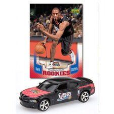 NBA Dodge Chargers Die-cast with Basketball Card - Philadelphia 76ers