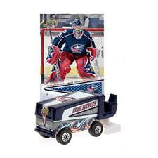 NHL 2008 / 9 Zamboni Machines with Pascal Leclaire Trading Card - Columbus Blue Jackets