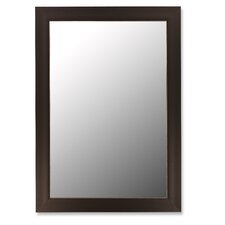 Espresso & Silver Accent Framed Wall Mirror