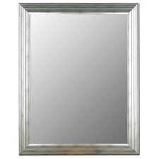 Stepped Imperial Silver Framed Wall Mirror