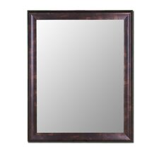 Cameo Collection Mirror in Espresso Walnut