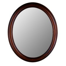 <strong>Hitchcock Butterfield Company</strong> Premier Series Oval Mirror in Mahogany