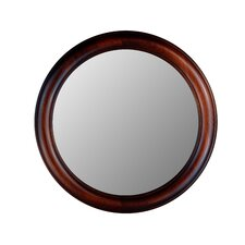 Round Mirror in Mahogany