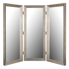 Room Divider Mirror in Baroni Silver