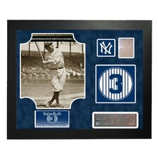 Steiner Collage MLB Retired Number Babe Ruth - New York Yankees Framed Memorabilia