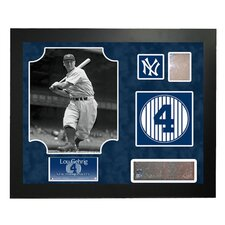 Steiner Collage MLB Retired Number Lou Gehrig - New York Yankees Framed Memorabilia