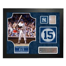 Steiner Collage MLB Retired Number Thurman Munson - New York Yankees Framed Memorabilia