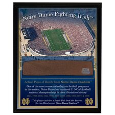 Notre Dame Game Used Bench Slab Plaque