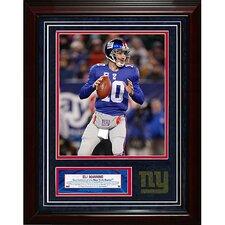 New York Giants Eli Manning Turf Collage Framed Memorabilia