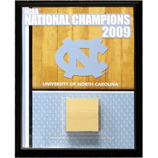 University of North Carolina Championship Court Memorabilia Plaque