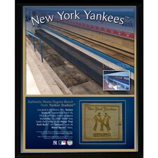 New York Yankees Game Used Dugout Bench Plaque