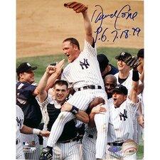 "David Cone Autographed ""PG 7-18-99"" 8"" x 10"" Photograph"