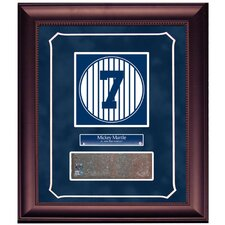 "Mickey Mantle Retired Number Monument Park Brick Slice 16"" x 20"" Framed Collage with Nameplate"