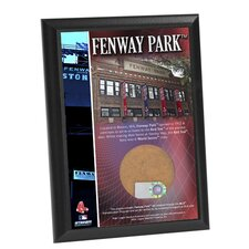 "Fenway Park 4"" x 6"" Game Used Dirt Plaque"