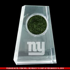 New York Giants Logo Crystal Paperweight