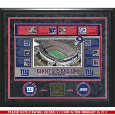 New York Giants Timeline Framed Turf Collage