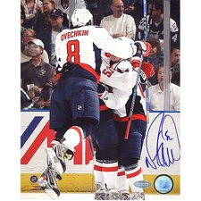 Mike Green Celebration with Ovechkin Autographed Photograph