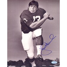 John Hannah Alabama Vertical B and W Autographed Photograph