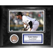 "Todd Helton 11"" x 14"" Mini Dirt Collage"