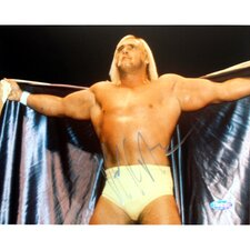 "Hulk Hogan Autographed Opening Cape 8"" x 10"" Photograph"