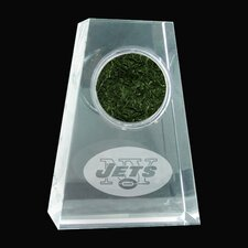 Jets Logo Crystal Paperweight